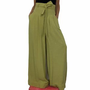 Free People Wide Leg Pleated Pant High Rise Size 0